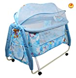 Baybee Melody Swing Baby Cradle (Blue) w...