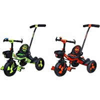 Luusa RX-500 Kids / Baby Tricycle with Parental Control , Cushion seat and seat Belt for 12 Months t & Luusa RX-500 Plug…