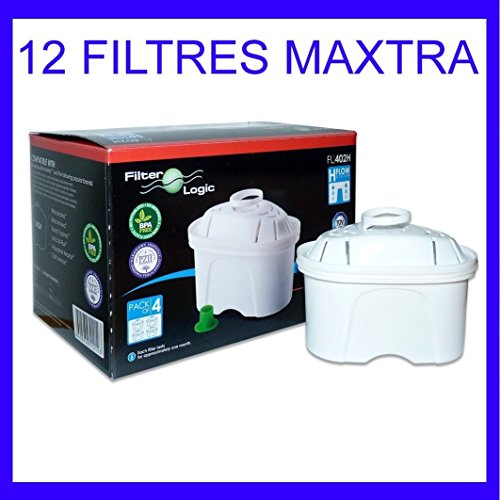FILTER-LOGIC - LOT DE 12 CARTOUCHES GENERIQUES BRITA MAXTRA FILTER LOGIC - MAXTRA12