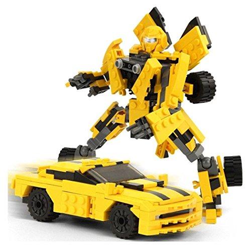 Bauklotz-Set zum Aufbau von Transformers. Kit 2 in 1 zur Montage eines Roboters oder Autos. 225 Teile.