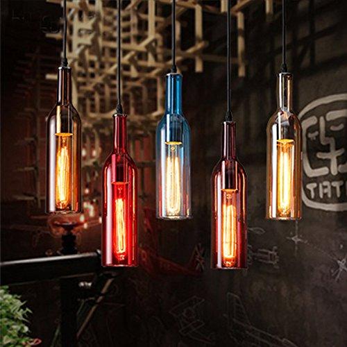 LINA-Singolo americano testa vento industriale di bottiglie di vino lampadari