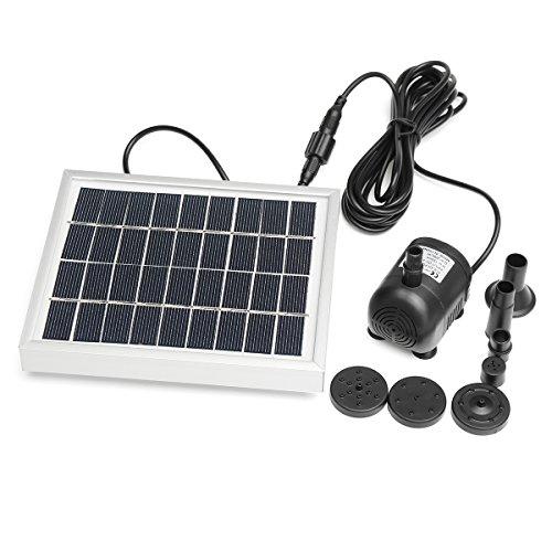 ExcLent 2W Dc 9V 200L / H Solar Panel Wasserpumpe Gartenteich Fontänenspray