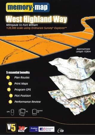 Memory-Map V5 West Highland Way OS 1:25,000 Explorer Parka