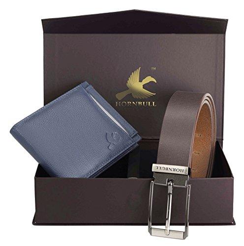 Hornbull Men's Brown Wallet and Belt Combo BW4592