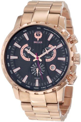 Brillier Caballero 16-01 Endurer Rose Gold cron—grafo Swiss Quartz Reloj