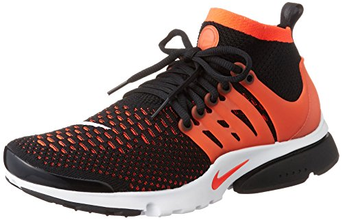Nike Herren Air Presto Flyknit Ultra Turnschuhe, 41 EU Schwarz (Black / Bright Crimson-White)