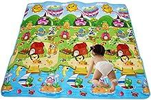 RYC Alfombra Infantail para Jugar Niños y Bebés Doble Caras Impermeable Diseño de Animal y Alfabeto 200X180CM