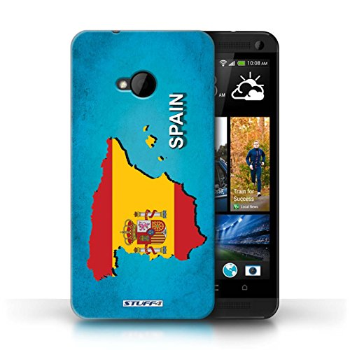 Coque de Stuff4 / Coque pour HTC One/1 M7 / Amérique/Américain/USA Design / Drapeau Pays Collection Espagne/Espagnol