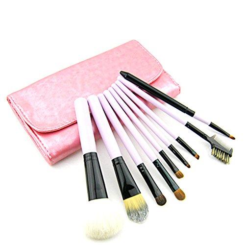 HimanJie Pinceau de maquillage cosmétique professionnel définit Kits sourcils ombre à paupières brosse cosmétique de 9pcs