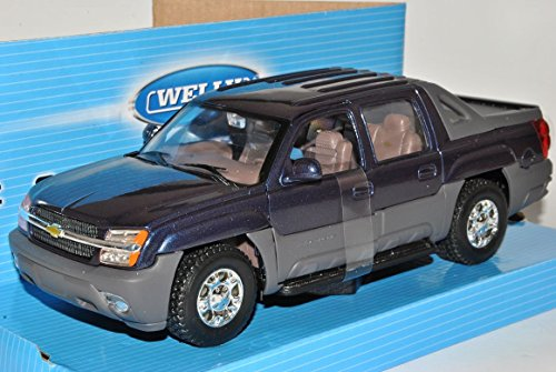chevrolet-chevy-avalanche-2002-pick-up-blau-schwarz-1-24-welly-modell-auto