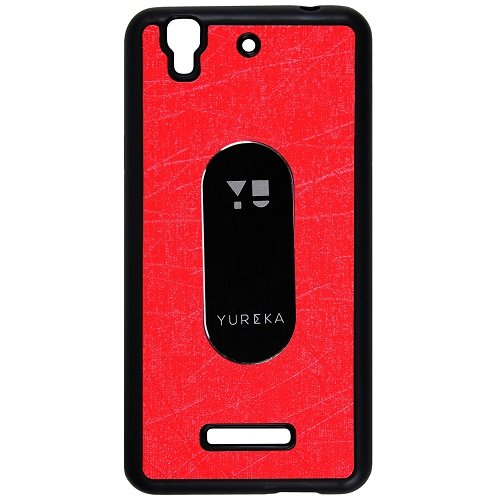 Casotec Metal Back TPU Back Case Cover for Micromax YU Yureka AQ5510 - Red  available at amazon for Rs.165