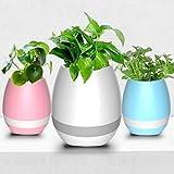 #2: Flying birds Music Flowerpot Rechargeable Battery Table Lamp Musical Flower Pot Home Decor - Lights & Lamps