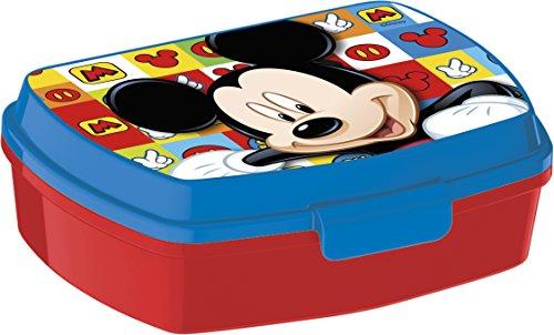 ALMACENESADAN 0434, Rechteckiger Mehrfarben-Sandwich Maker Disney Micky Maus, 15x10x5,5 cm