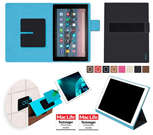 reboon Amazon Fire HD 10 2017 Hülle Tasche Cover Case Bumper | in Schwarz | Testsieger
