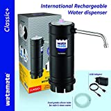 Watamate Classic+ Automatic Water Can dispenser pump with Rechargeable Battery for 20 Ltr Can ,Black