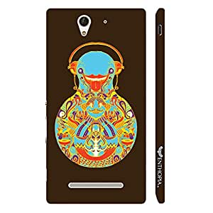 Sony Xperia C3 SAND BALANCE designer mobile hard shell case by Enthopia