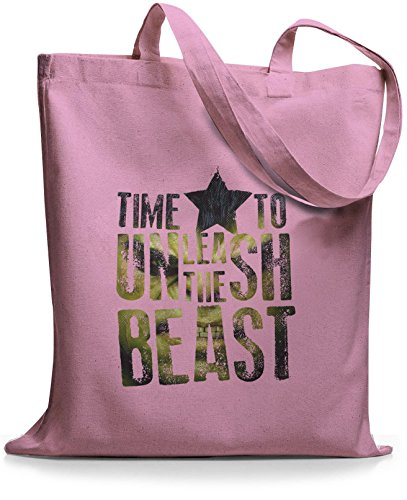 StyloBags Jutebeutel / Tasche Time To Unleash the Beast Rosa