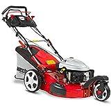 HECHT Benzin-Rasenmäher 5563 SX 3-Rad Rasenmäher (4,4 kW (6,0 PS), Schnittbreite 56 cm, 70 Liter Fangkorbvolumen, 6-fache Schnitthöhenverstellung 25-75 mm, Radantrieb)