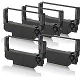 5 x Cinta compatible - nylon negro de cinta para Epson ERC38B TM-U-220-PB TM-U-230 TM-U-300 A TM-U-300-A TM-U-300-B TM-U-300-C TM-U-300-D TM-U-300-PD TM-U-325 TM-U-370 TM-U-375 Print Plus Series