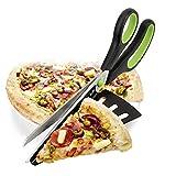 TOSSPER Acciaio Inossidabile taglierina della Pizza affettatrice di Cottura Strumenti Utensili da Taglio Pizza Pizza Forbici Knife Multifunzionale