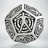 Q-Workshop QWOHIT02 Hit Location Die White/Black D12 (1), Multi-Coloured