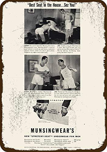 1940 Munsingwear Men's Underwear Vintage Look Replica Metal Sign 7