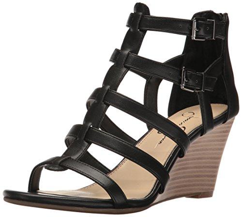 Jessica Simpson Frauen Flache Sandalen Schwarz Groesse 9.5 US/41 EU (Jessica Simpson Frauen Schuhe)