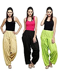 Mango People Products BUY (Skin) One Get Two(Black & Parrot) Free , Womens & Girls Solid Cotton Mix Best Indian...