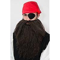 Mega pirata con barba marrón barba para Arenas