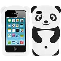 kwmobile FUNDA DE SILICONA Diseño Panda para Apple iPhone 4/4S - Un diseño elegante y una protección óptima