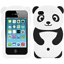 kwmobile FUNDA DE SILICONA Diseño Panda para Apple iPhone 4 / 4S - Un diseño elegante y una protección óptima