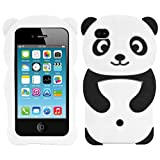 kwmobile Coque Apple iPhone 4 / 4S - Étui de Protection pour Apple iPhone 4 / 4S - Housse en Silicone Noir-Blanc