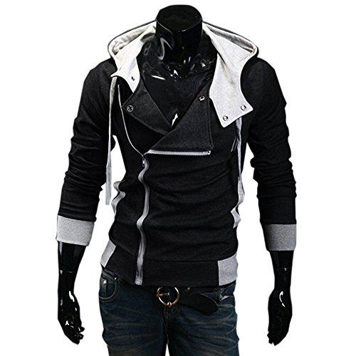 Desmond Miles Kostum New Hoodie Jacke Cosplay Costume (EU M(Tag XL), schwarz)