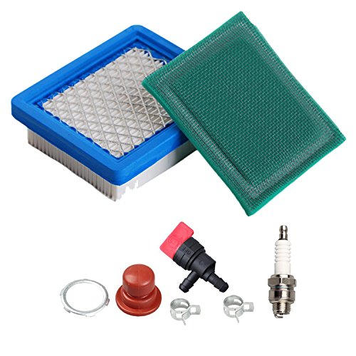 OxoxO 36046 Air Filter with 36634 Pre Filter Spark Plug for Tecumseh Oh95 Oh195 Ohh50 Ohh55 Ohh60 Ohh65 Vlv50 Vlv55 Vlv60 Vlv66 Vlv126 4 5.5 Hp Engines (5.5 Hp Engine)