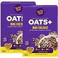 Yogabar Dark Chocolate Oats | Pack of 2 | 400gm Each | Gluten Free Golden Oats That Helps Reduce Cholesterol | Healthy Breakf