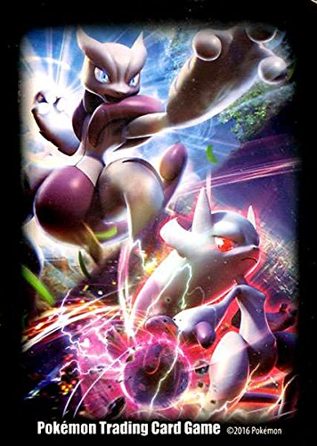 65 Pokemon Deck Protector Sleeves Mega Mewtwo X and Y