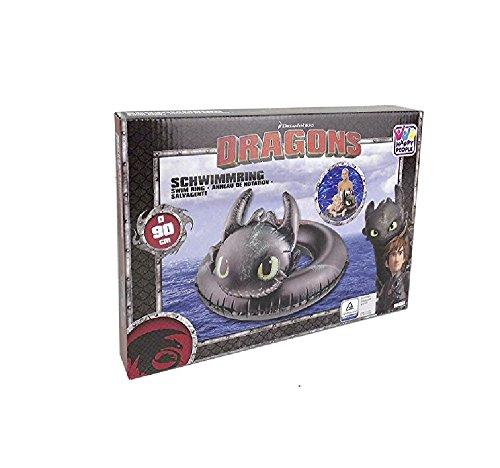 Bavaria Home Style Collection Lustiger Badering Schwimmring Schwimm Ring Schwimmreifen Swim Ring Schwimmreifen aufgeblasen ca. 90 , PVC Folie 0,20 mm super Schwimmspass Kinder Spass