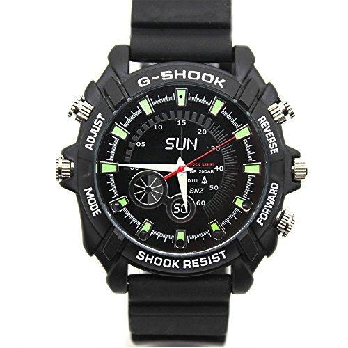 Spy Aufnahme Armbanduhr (Flylink® HD 8GB ® 1080P Night Vision Kamera, Wasserdicht))