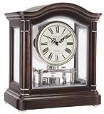 Break Arch Mantel Dark Wood Clock