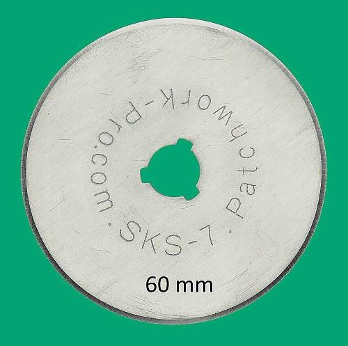 Ersatzklingen 3x Klingen 60mm 60 mm Marke Patchwork-Pro, Deutscher Klingen-Stahl für Rollschneider Rollmesser Rotary Blade Patchwork Quilt