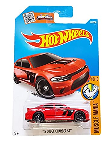 Hot Wheels, 2016 Muscle Mania, Dodge Charger SRT Hellcat [Red] Die-Cast Vehicle #130/250