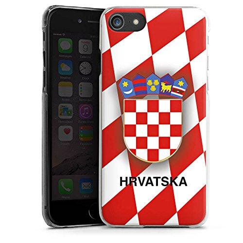 Apple iPhone X Silikon Hülle Case Schutzhülle Kroatien EM Trikot Fußball Europameisterschaft Hard Case transparent