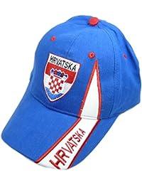 Fan Cap Kroatien Hrvatska blau NEU Kappe Flagge Basecap