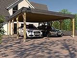 Doppel-Carport Walmdach SAUERLAND II 600x800cm Carport Walmdachcarport