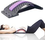 MOGOI Lumbar Stretcher, Multi-Level Back Massager Lumbar Support Stretcher Spinal Pain Relieve Back Pain Muscle Pain Relief f