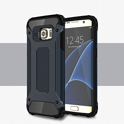 Samsung galaxy s7 edge custodia, totoose ibrido combo armatura del corpo telefono indietro custodia copertina scudo protettivo per samsung galaxy s7 edge marina militare