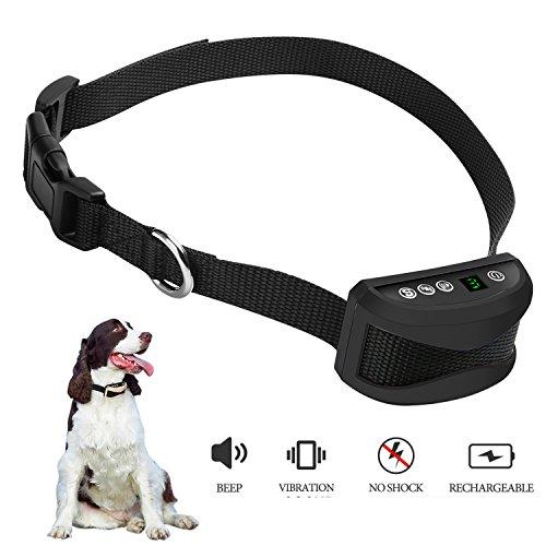 Collar de la corteza del perro con la vibración, NinguÌ n collar de la corteza, Sin shock, Inofensivo y humano, Entrenamiento y collar anti de la corteza, 7 niveles progresivos/ajustables