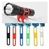 foopp MTB bicicleta linterna silicona teléfono Soporte cinta 5pcs (color al azar)