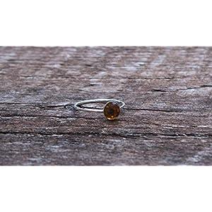 Bottled Up Designs Aufbereiteter Vintage Bernstein Clorox Krug Sterling Silber Stapeln Ring