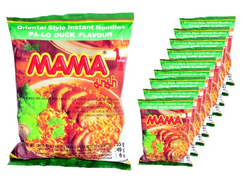 Mama - Asia Nudeln Ente Geschmack - 10er Pack (10 x 55g Beutel) - Thai Nudelsuppe